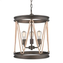 Chatham 3 Light Pendant in Gunmetal Bronze