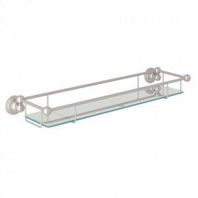 Satin Nickel Perrin & Rowe Edwardian Wall Mount Glass Vanity Shelf
