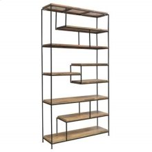 Bengal Manor Iron and Wood Offset Large Etagere