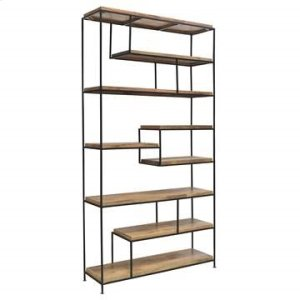 CRESTVIEW COLLECTIONSBengal Manor Iron and Wood Offset Large Etagere
