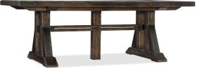 Roslyn County Trestle Dining Table w/2 21in leaves