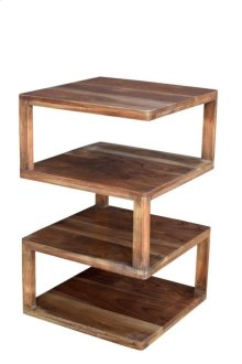 Bengal Manor Mango Wood Archictectural Square End Table