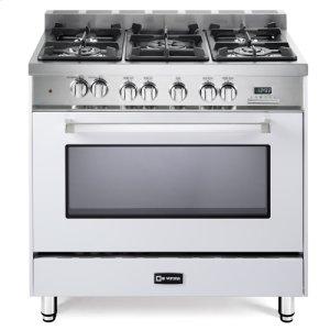 "White 36"" Dual Fuel Single Oven Range - 'N' Series"