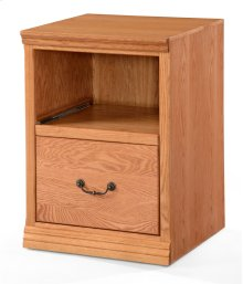"""O-T646 Traditional Oak 2-Drawer Locking Vertical File Cabinet, 21""""W x 21""""D x 30""""H"""