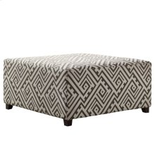 Valentina Cocktail Ottoman in Grey/White