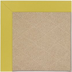Creative Concepts-Cane Wicker Canvas Lemon Grass Machine Tufted Rugs
