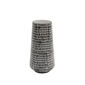 """Ceramic Vase 12"""", Black Cobblestone"""