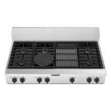 """6 Burners Grille Porcelain-on-Steel Cooktop Architect® Series Gas 48"""" Width"""