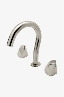 Isla Gooseneck Lavatory Faucet with Metal Geode Handles STYLE: ISLS25