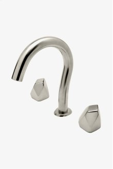 Isla Gooseneck Lavatory Faucet with Metal Geode Handles STYLE: ISLS25