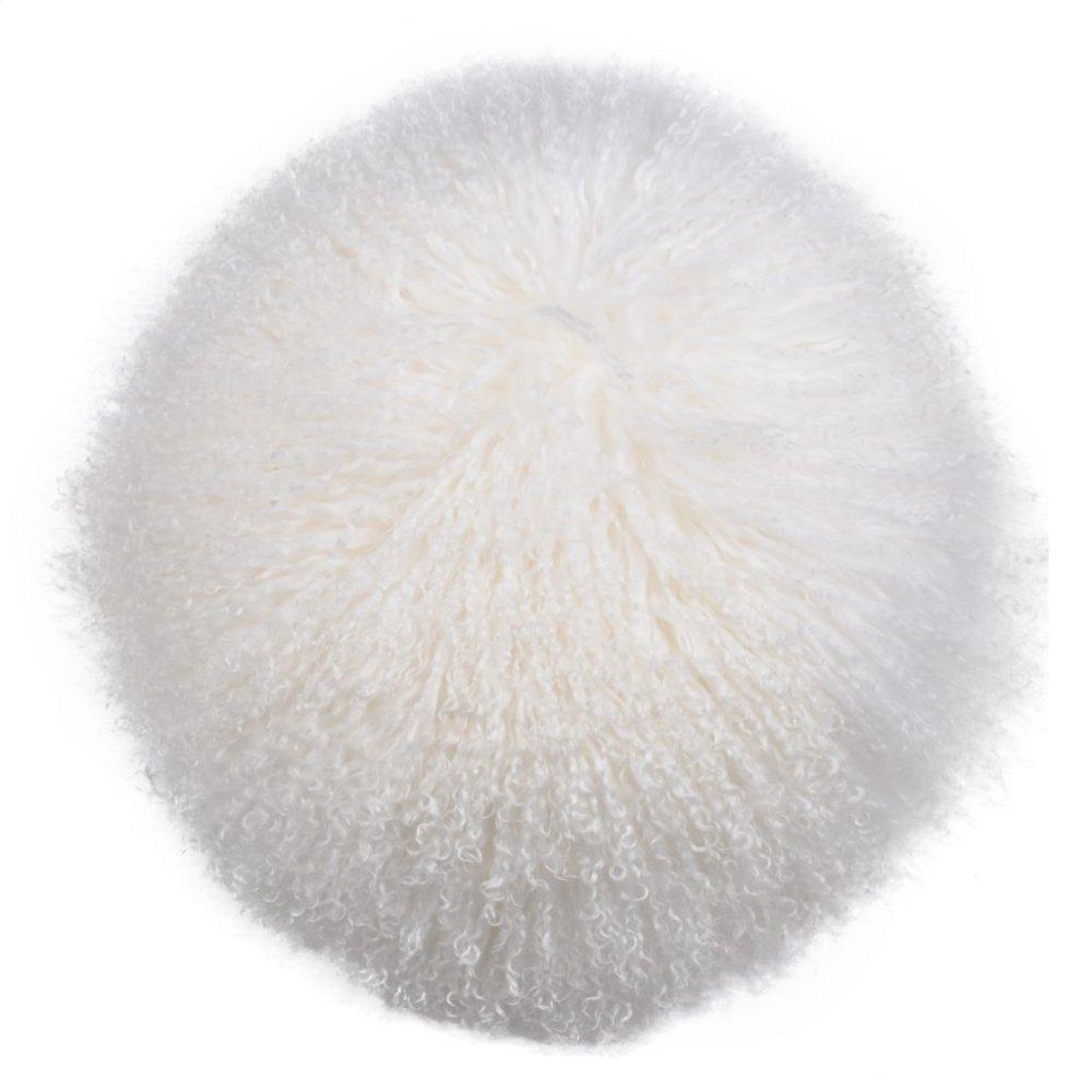 A & B Home Natural Lamb Fur Pillow