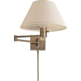 Visual Comfort 92000DAN-L Studio Classic 25 inch 75 watt Antique Nickel Swing-Arm Wall Light in Linen
