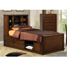 Hillary Full Bookcase Bed