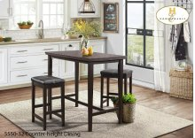 3 Piece pack Counter-height Set