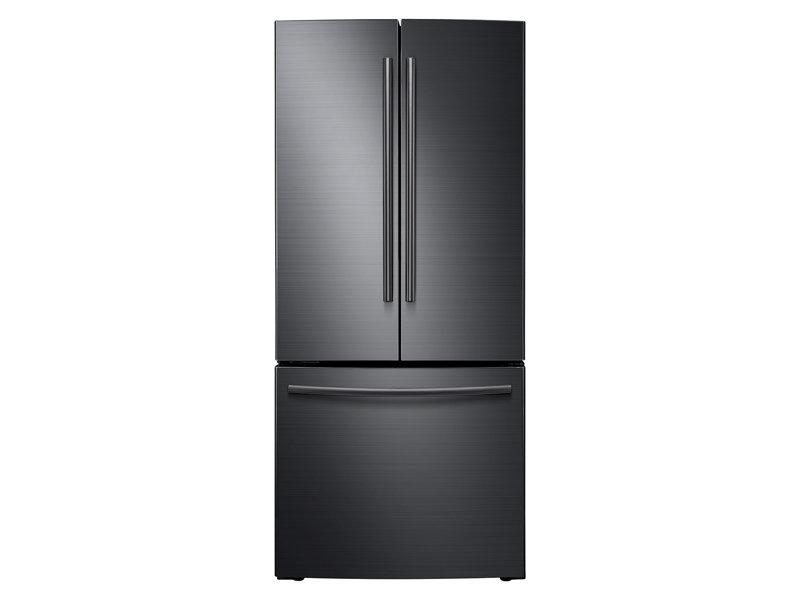 Rf220nctasg Samsung 22 Cu Ft French Door Refrigerator Fingerprint