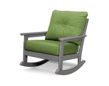 Slate Grey & Ginkgo Vineyard Deep Seating Rocking Chair