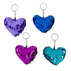12 pc. ppk. Reversible Sequin Key Chain.