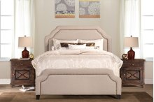 Carlyle Bed Set - King - Rails Included - Lt Taupe