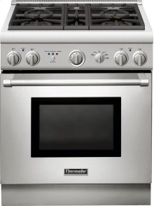 SAVE!!! - SLIGHTLY USED - CUSTOMER'S GAS SUPPLY PRESSURE NOT UP TO STANDARD;THE BENEFITS OF THERMADOR'S POWERFUL BTU LEVELS NOT REALIZED- UNIT TESTED AND NO ISSUES FOUND... 1 YEAR WARRANTY 30-Inch Pro Harmony® Standard Depth Dual Fuel Range