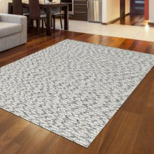 "Radici Bellissima 2 Gray/Silver Rectangle 2'0""X3'0"""