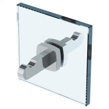H-line Double Shower Door Knob/ Glass Mount Hook