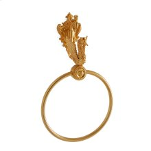 Antique Gold Swan Towel Ring