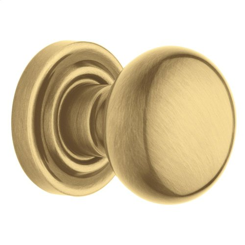 Satin Brass and Brown 5030 Estate Knob