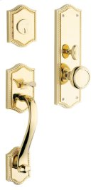 Lifetime Polished Brass Bristol Entrance Trim Product Image