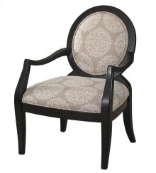 Batik Pearl Black Framed Chair