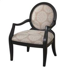 Batik Pearl Black Framed Chair