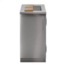 """OUTDOOR KITCHEN CABINETS IN STAINLESS STEEL  PURE 18"""" Sink Cabinet SmartStation Maple 1 Door Left Hinges"""