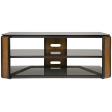 Natural Finish Wood & Dark Pewter A/V Furniture