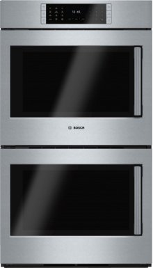 "Benchmark Series, 30"", Double Wall Oven, SS, EU conv./EU conv., TFT Touch Control, Left Swing"