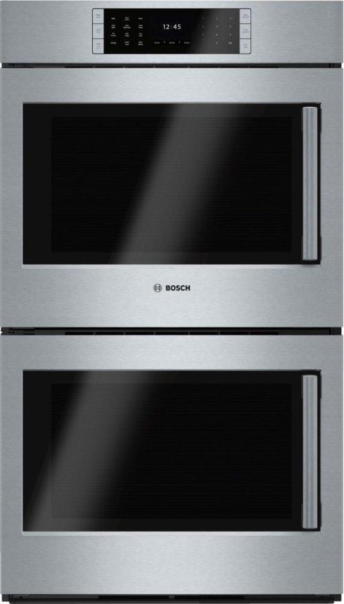 "Benchmark Series, 30"", Double Wall Oven, SS, EU conv./EU conv., TFT Touch Control, Left Swing"