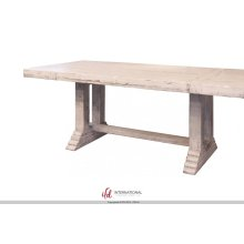 Wooden Table top & base - White finish