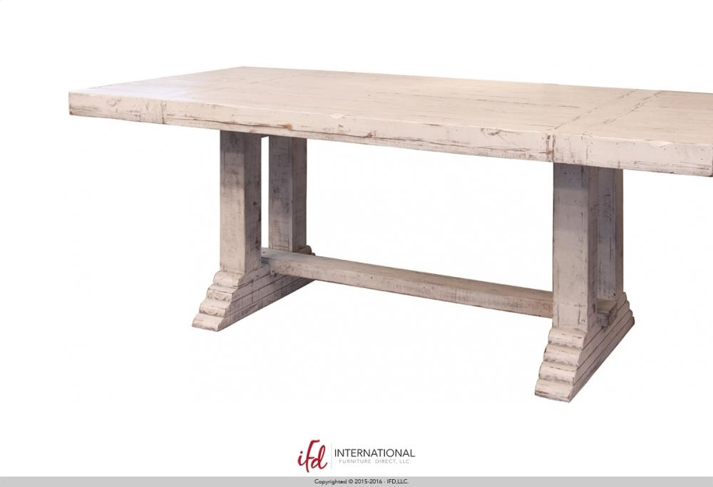 Wooden Table Top U0026 Base   White Finish