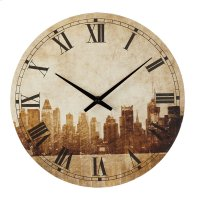 Cityscape Wall Clock. Product Image