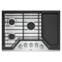 30-inch Gas Cooktop with Griddle