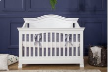 White Louis 4-in-1 Convertible Crib with Toddler Bed Conversion Kit
