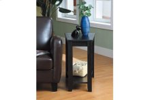 Wedged Chairside Table, Black