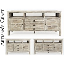 "Artisan's Craft 50"" Media Console - Washed Grey"