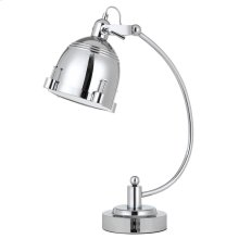 60W Hubble Metal Adjust able Desk Lamp In Chrome With Turn Base Switch