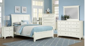 Full Bonanza White Sleigh Bed