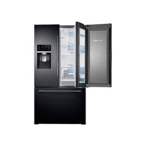28 cu. ft. 3-Door French Door Food ShowCase Refrigerator - Black