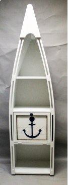 "#102C Canoe Bookshelf with Cutout Anchor 23.5""wx16.5""dx83""h Product Image"