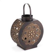 Flores Lantern Sm Black & Gold