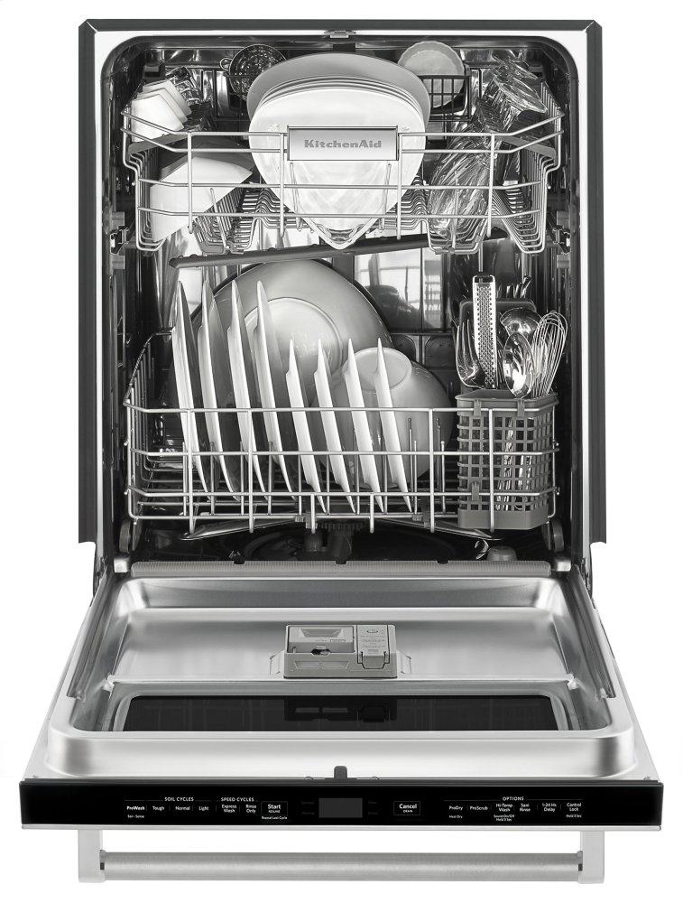 Kdtm384ess kitchenaid 44 dba dishwasher with window and - Dishwasher stainless steel interior ...