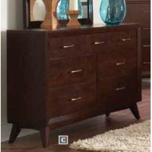 Carrington Mid-century Modern Seven-drawer Dresser