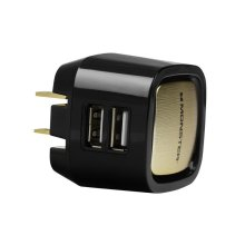 Monster Mobile Dual USB Wall Charger - White and Gold