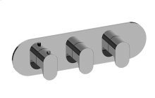 Ametis M-Series Valve Horizontal Trim with Three Handles